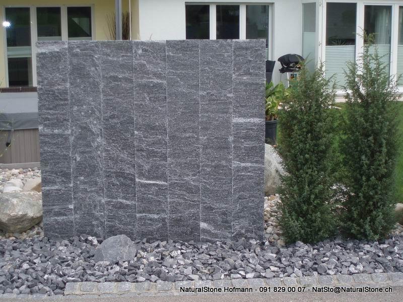 """Granitpalisaden aus Tessinergneis dunkel """"Calanca"""""""