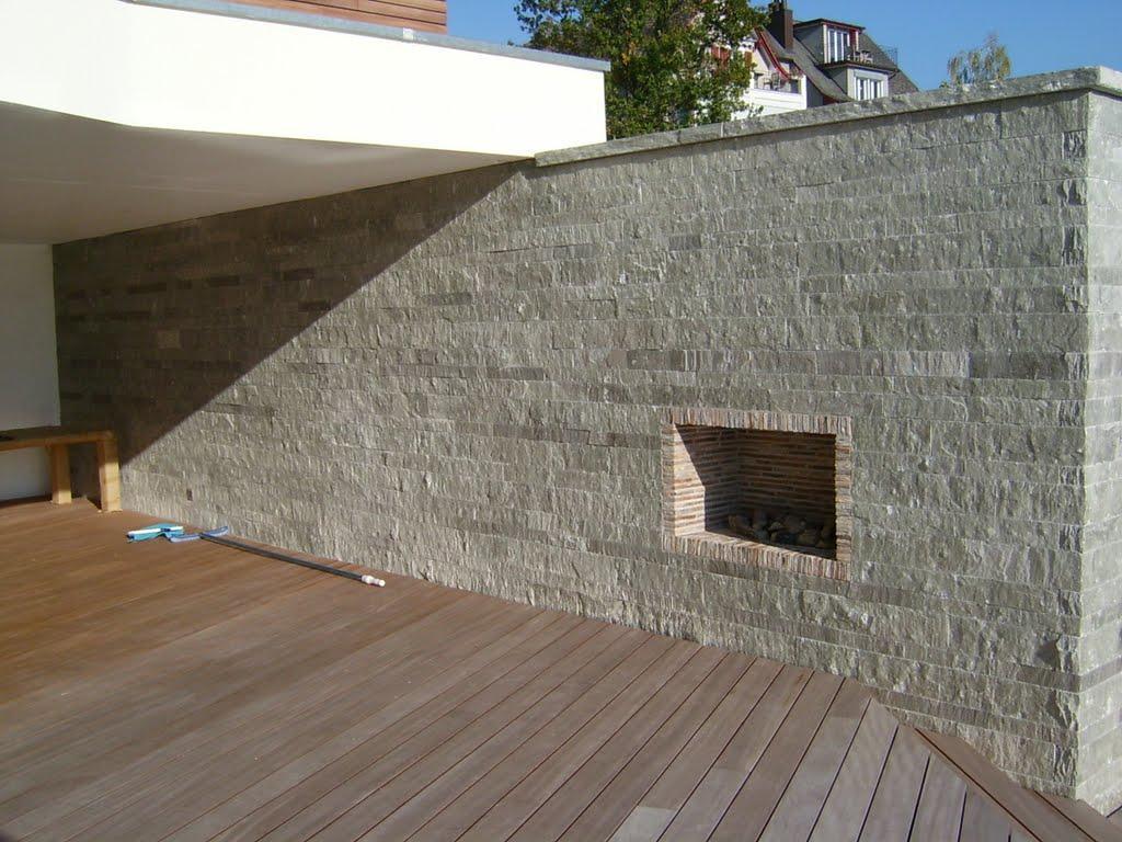 Valserquarzit-Mauerstein