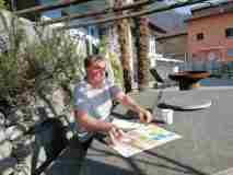 GartenOffice arbeiten an der Sonne
