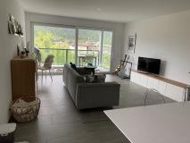 TopLoft Ferienwohnung in Castione - Das Wohnzimmer